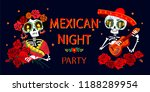 day of the dead postcard vector ... | Shutterstock .eps vector #1188289954