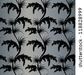 seamless wallpaper pattern from a black floral ornamen