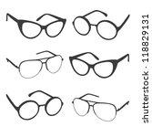 set of sunglasses shapes.... | Shutterstock .eps vector #118829131