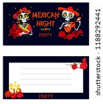 day of the dead postcard vector ... | Shutterstock .eps vector #1188292441