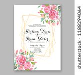 wedding invitation card with... | Shutterstock .eps vector #1188294064