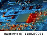 electronic circuit board close... | Shutterstock . vector #1188297031
