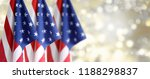 three american flags in front... | Shutterstock . vector #1188298837
