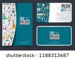 music art flyer and business... | Shutterstock .eps vector #1188313687