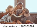 family togetherness. mom  dad... | Shutterstock . vector #1188333784