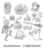set of halloween characters and ...   Shutterstock .eps vector #1188335644
