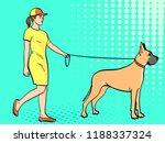 pop art background. a woman... | Shutterstock .eps vector #1188337324