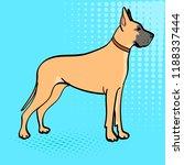 great dane breed of domestic... | Shutterstock .eps vector #1188337444