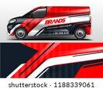 van wrap design for company ... | Shutterstock .eps vector #1188339061