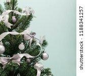 christmas tree background | Shutterstock . vector #1188341257