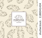 background with porphyra ... | Shutterstock .eps vector #1188341434