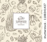 background with super food ... | Shutterstock .eps vector #1188341437