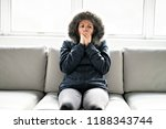 woman have cold on the sofa at...   Shutterstock . vector #1188343744