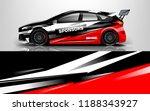 racing car wrap. wrap design... | Shutterstock .eps vector #1188343927