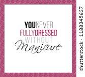 manicure salon symbol  never...   Shutterstock .eps vector #1188345637