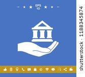 hand holding bank | Shutterstock .eps vector #1188345874