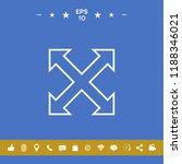 extend  resize  enlarge line... | Shutterstock .eps vector #1188346021