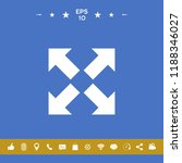 extend  resize icon. cross... | Shutterstock .eps vector #1188346027