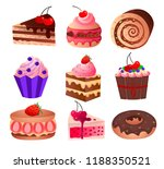 favorite delicacy of any girl... | Shutterstock .eps vector #1188350521