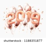 vector realistic 2019 pink air... | Shutterstock .eps vector #1188351877