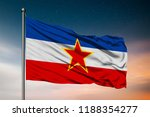 waving flag of the socialist... | Shutterstock . vector #1188354277