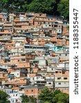cerro cora favela expanding...   Shutterstock . vector #1188355447