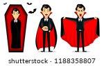 happy halloween. vampire... | Shutterstock .eps vector #1188358807