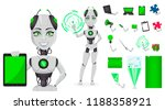 robot with artificial... | Shutterstock .eps vector #1188358921