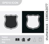 police office badge sign flat... | Shutterstock .eps vector #1188362077