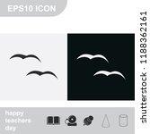 flying birds flat black and... | Shutterstock .eps vector #1188362161