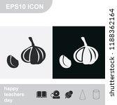 garlic flat black and white... | Shutterstock .eps vector #1188362164