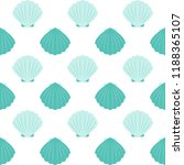 sea shells vector seamless... | Shutterstock .eps vector #1188365107