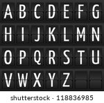 Set Of Letters On A Mechanical...