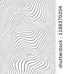 black warped vertical lines... | Shutterstock . vector #1188370204