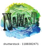 namaste. greeting  farewell. a... | Shutterstock .eps vector #1188382471