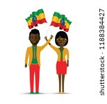 ethiopia flag waving man and... | Shutterstock .eps vector #1188384427