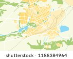 geographic map of the city  the ... | Shutterstock . vector #1188384964