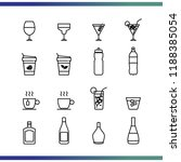 drink icon set thin line... | Shutterstock .eps vector #1188385054