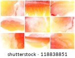 set of abstract colorful blue...   Shutterstock . vector #118838851