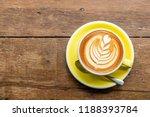 top view of hot cappuccino... | Shutterstock . vector #1188393784