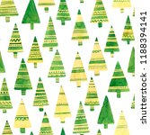watercolor spruces on white.... | Shutterstock . vector #1188394141