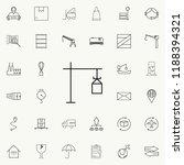 crane icon. logistics icons...