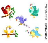 the collection birds with the... | Shutterstock . vector #1188400567