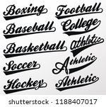 sport swooshes set  underline... | Shutterstock .eps vector #1188407017