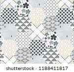blue japanese pattern vector.... | Shutterstock .eps vector #1188411817