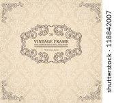 vintage background with damask... | Shutterstock .eps vector #118842007