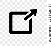 exit top right vector icon...   Shutterstock .eps vector #1188426454