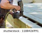 installing wood on deck  patio... | Shutterstock . vector #1188426991
