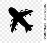 aeroplane vector icon isolated... | Shutterstock .eps vector #1188427387
