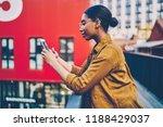 serious african american woman... | Shutterstock . vector #1188429037